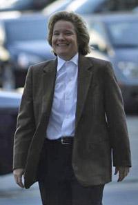 Cris Arguedas arrives at the Phillip Burton Federal Building April 8, 2011.
